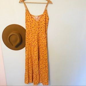 Band of Gypsies floral peasant maxi sundress